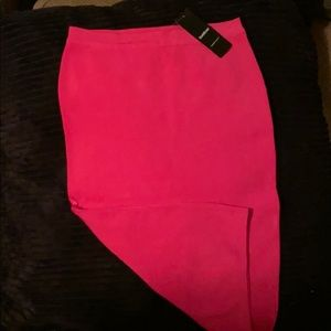 Bebe Hot Pink Bondage skirt